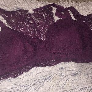 Mudd Intimates & Sleepwear - 2 large maroon lace brackets